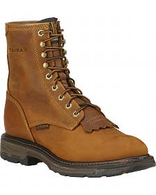 "Ariat Men's Workhog 8"" Lace-Up Work Boots"