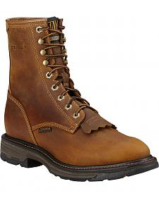 "Ariat Men's Workhog 8"" Lace-Up Work Boots - Composite Toe"