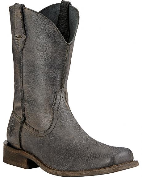 Ariat Rambler Leather Sole Cowboy Boots - Square Toe