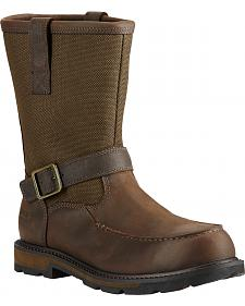 Ariat Men's Groundbreaker Waterproof Moc Toe Work Boots - Steel Toe