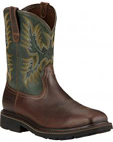 Ariat Sierra Wide Square Toe Western Work Boots - Steel Toe