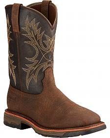 Ariat Workhog H2O Western Work Boots - Square Toe