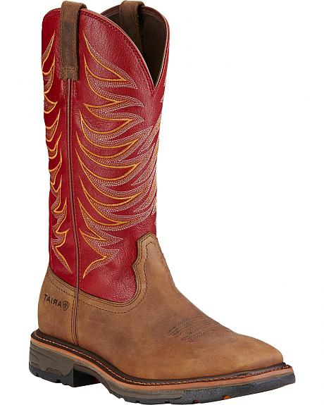 Ariat Workhog Wide Square Toe Tall II Boots - Soft Square Toe