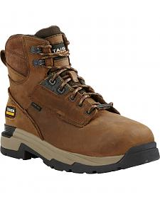 "Ariat Mastergrip Waterproof Insulated 6"" Lace-Up Work Boots - Composite Toe"