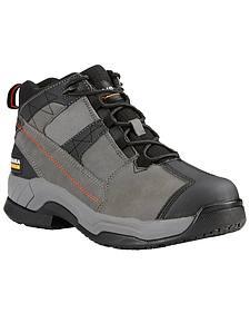 Ariat Men's Grey Contender Work Boots - Soft Toe
