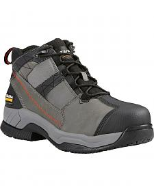 Ariat Men's Grey Contender Work Boots - Steel Toe
