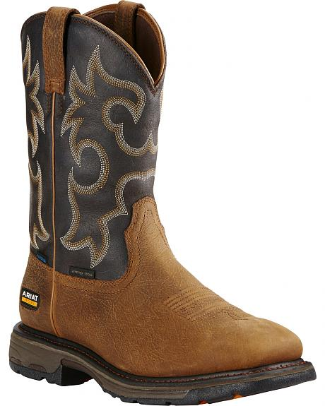 Ariat Workhog H2O 400g Cowboy Work Boots - Square Toe