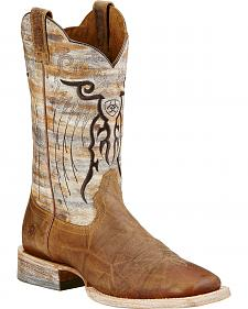 Ariat Tan Mesteno Cowboy Boots - Square Toe