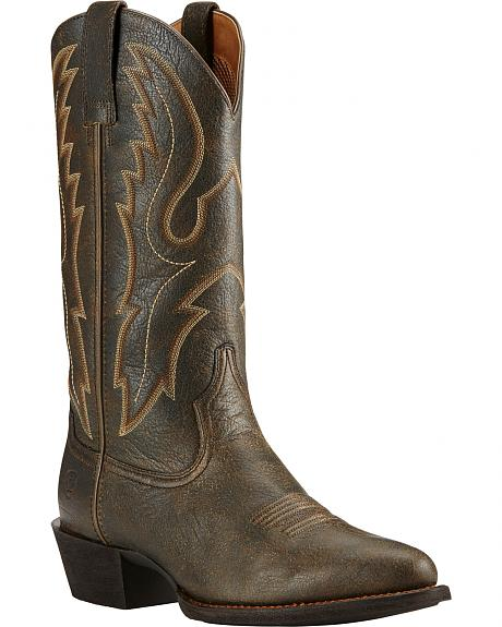 Ariat Sport Brooklyn Brown Cowboy Boots - Round Toe