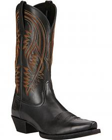 Ariat Black Revolution Cowboy Boots - Snip Toe