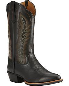 Ariat Limousine Black Drifter Cowboy Boots - Round Toe