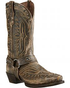 Ariat Iron Cowboy Brooklyn Brown Cowboy Boots - Square Toe