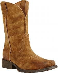 Ariat Urban Rambler Antique Suede Cowboy Boots - Square Toe