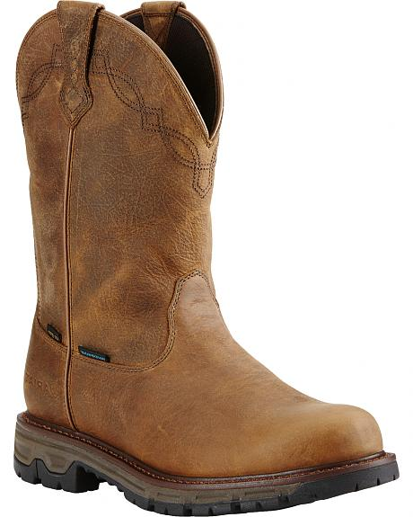 Ariat Men's Insulated Conquest Waterproof Pull-On Hunting Boots - Round Toe