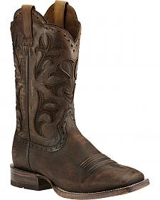 Ariat Chocolate Ombre Cowboss Performance Cowboy Boots - Square Toe