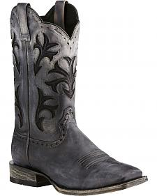 Ariat Black Ombre Cowboss Performance Cowboy Boots - Square Toe