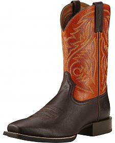 Ariat Autumn Dust Sport Herdsman Cowboy Boots - Square Toe