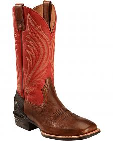 Ariat Mocha Catalyst Prime Cowboy Boots - Square Toe