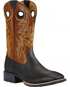 Ariat Moonless Night Heritage Cowhorse Performance Cowboy Boots - Square Toe