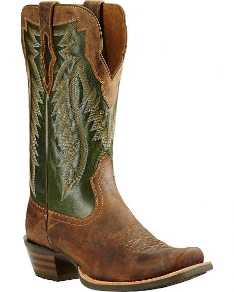 Ariat Neon Lime Futurity Performance Cowboy Boots - Square Toe