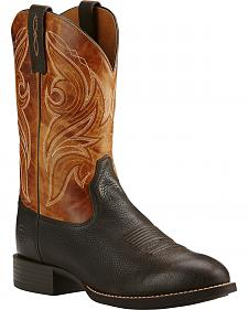 Ariat Heritage Cowpuncher Iron Cowboy Boots - Round Toe