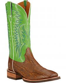 Ariat Men's Big Loop Elephant Print Cowboy Boots - Square Toe