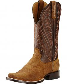 Ariat Bittersweet Chocolate Hoolihan Cowboy Boots - Square Toe