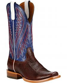 Ariat Pebbled Wine Hoolihan Cowboy Boots - Square Toe