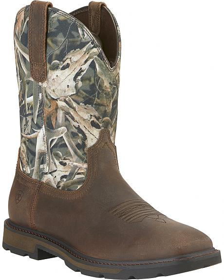 Ariat Groundbreaker Camo Work Boots - Steel Toe