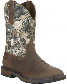 Ariat Groundbreaker Camo Work Boots - Square Toe