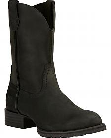 Ariat Black Hybrid Street Side Cowboy Boots - Round Toe