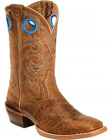 Ariat Distressed Brown Crossfire Cowboy Boots - Square Toe