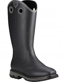 Ariat Men's Black Conquest Insulated Rubber Boots - Square Toe