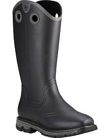 Ariat Men's Black Conquest Insulated Rubber Boots - Square Toe