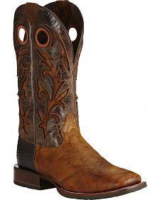 Ariat Copper Barstow Cowboy Boots - Square Toe