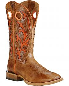 Ariat Dust Brown Barstow Cowboy Boots - Square Toe