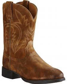 Ariat Men's Tan Western Roper Boots - Round Toe