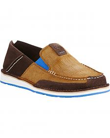 Ariat Men's Chocolate Cruiser Shoes - Moc Toe