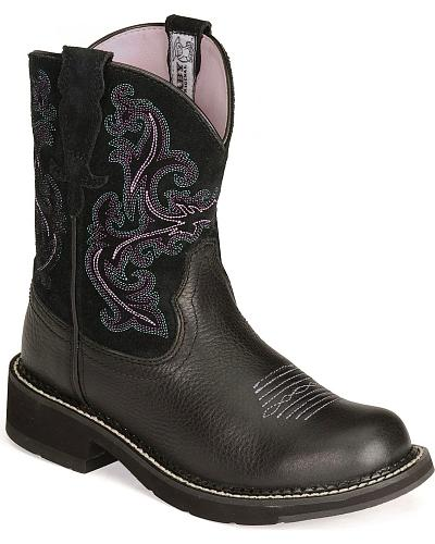 Ariat Black Deertan Fatbaby Boots Western & Country 10004729