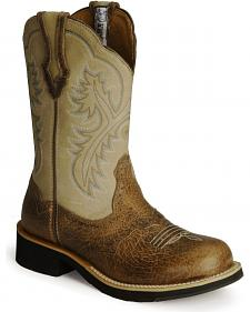 Ariat Showbaby Distressed Cowgirl Boots - Round Toe