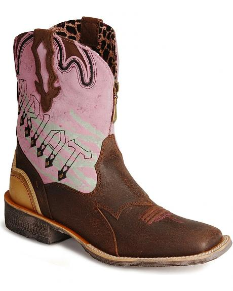Ariat Zipitbaby Zipper Short Cowboy Boots