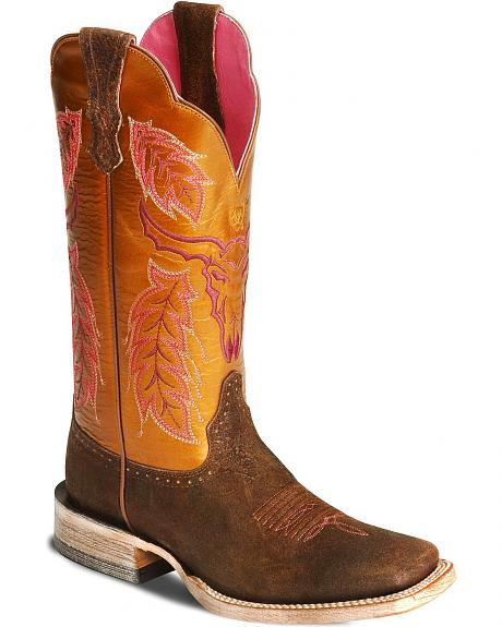 Ariat Outlaw Cowgirl Boot - Wide Square Toe