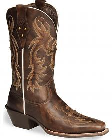 Ariat Legend Spirit Cross Cowgirl Boots - Square Toe