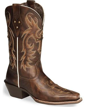 Ariat Legend Spirit Cross Cowgirl Boots - Square Toe