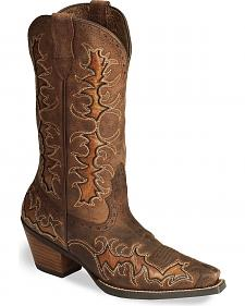 Ariat Sassy Brown Dandy Cowgirl Boot - Snip Toe