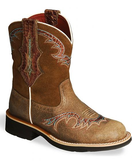 Ariat Golden Brown Showbaby U-Turn Cowgirl Boot - Round Toe