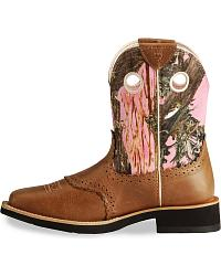 Ariat Camo Fatbaby Cowgirl Boots - Square Toe at Sheplers
