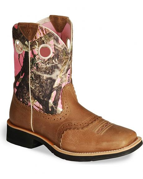 Ariat Camo Fatbaby Cowgirl Boot - Square Toe