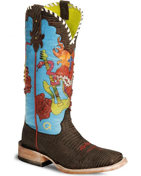 Ariat Quincy Collection Nevada Lily Cowgirl Boot - Wide Square Toe