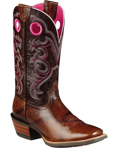 Ariat Crossfire Cowgirl Boots - Square Toe